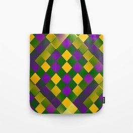 Harlequin Mardi Gras pattern Tote Bag