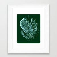 xenomorph Framed Art Prints featuring Xenomorph by Jordan Lewerissa