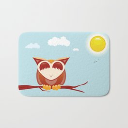 Owl alseep Bath Mat