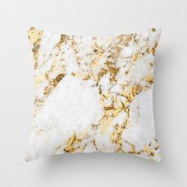Luxe bright golden Throw Pillow
