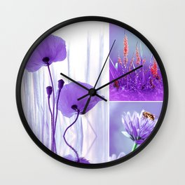 Collage Spring Violet 101 Wall Clock