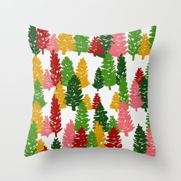 Scribble Trees Throw Pillow