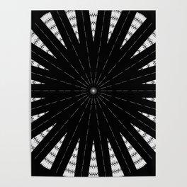 Black White mandala Design Poster