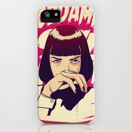 Pulp Fiction Mia Wallace iPhone Case