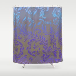 Ombre Damask Purple and Blue Shower Curtain
