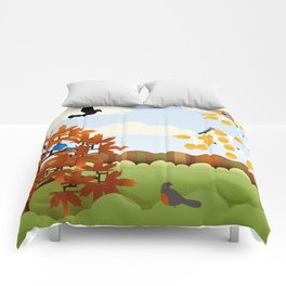 A Fine Autumnal Day Comforters