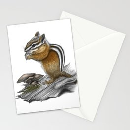 Chipmunk and mushrooms Stationery Cards