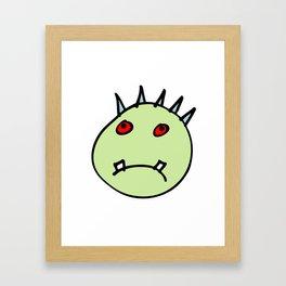 haunted head Framed Art Print