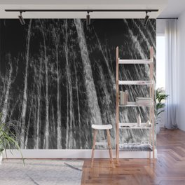 Black and white tree photography - Watercolor series #7 Wall Mural