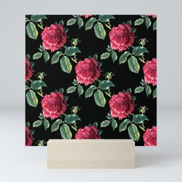 Pattern with roses 3 Mini Art Print