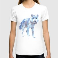 low poly T-shirts featuring Low Poly Wolf by idrux