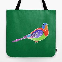 Bird - Green Tote Bag