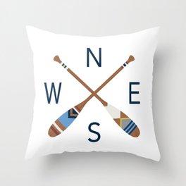 Oar Compass Throw Pillow