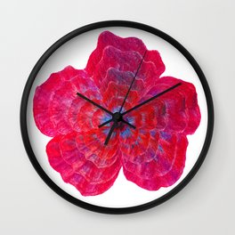 Hibiscus Flower Power Wall Clock