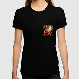 Barber shop vintage photograph of an antique bicycle T-shirt