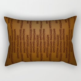 Eye of the Magpie tribal style pattern - bronze Rectangular Pillow