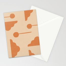 Clouds and lollipops - earth tones version Stationery Cards