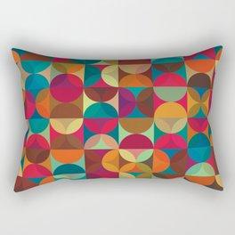 Energy Deco Retro Pattern Rectangular Pillow