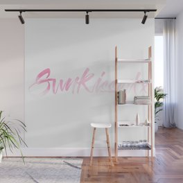 SunKissed x Pink Watercolor Typography Wall Mural