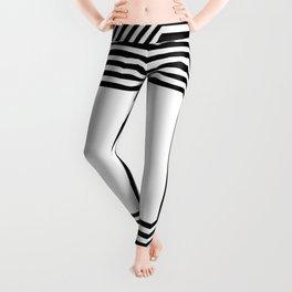 Stripes Black and White Insanity Leggings