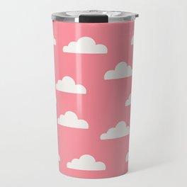 Clouds Pink Travel Mug