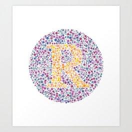"""R"" Eye Test Letter Circle Art Print"