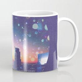 Minneapolis Minnesota Surreal Skyline in the Clouds Coffee Mug