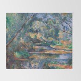 The Brook by Paul Cézanne Throw Blanket