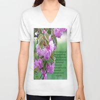 poem V-neck T-shirts featuring Mother's Day Poem  by Frankie Cat