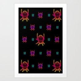Neon Spider 4 Art Print