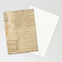 Classical music notations Stationery Cards