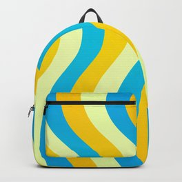 Blue and Gold Waves Backpack