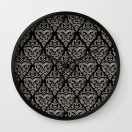 Persian Oriental Pattern - Watercolor black and gold Wall Clock