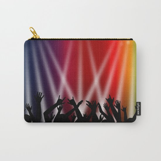Dancing Crowd With Multi Colour and White Spotlights Carry-All Pouch