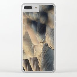 Turkey Vulture Feathers 2 Clear iPhone Case