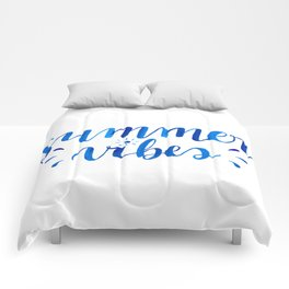 Summer Vibes Hand Lettering Comforters