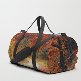 Red Autumn Duffle Bag