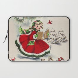 Vintage Christmas Girl Laptop Sleeve