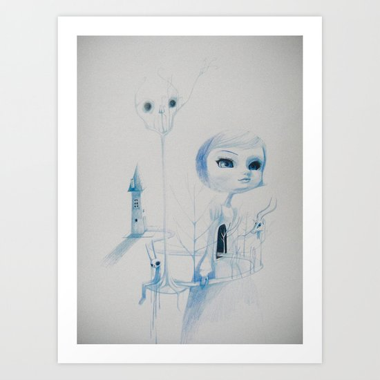 the haunting Art Print