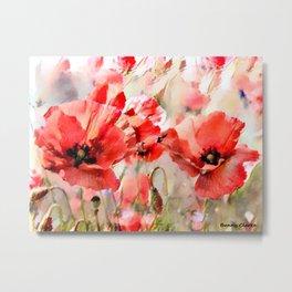 Dancing Poppies Metal Print