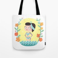 marine Tote Bags featuring Marine by Lola Draloug