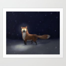 ghost fox Art Print