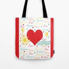 Fun, love, friends etc Tote Bag