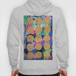 Bubble Wrap Abstract Pop Painting by Robert Erod HUGE COLORFUL ART Hoody