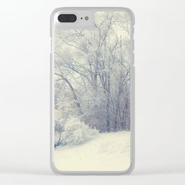 Ice castles Clear iPhone Case