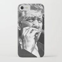david lynch iPhone & iPod Cases featuring David Lynch by erintquinn
