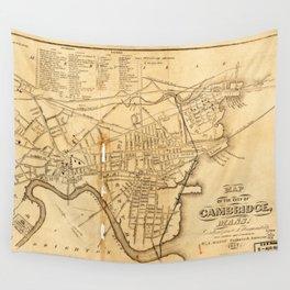 Map of Cambridge, Massachusetts (1857) Wall Tapestry