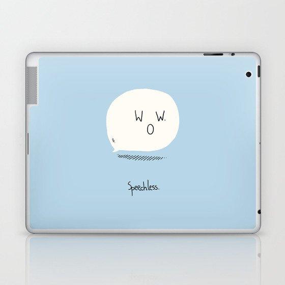 Speechless. Laptop & iPad Skin