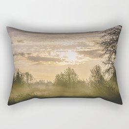 Sunrise in Woodburn Rectangular Pillow