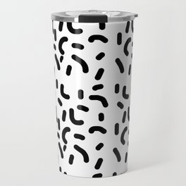 B & W Fun Pattern! Travel Mug